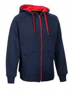SELECT Bluza ZIP Hoody WILLIAM navy 6/8 granatowa