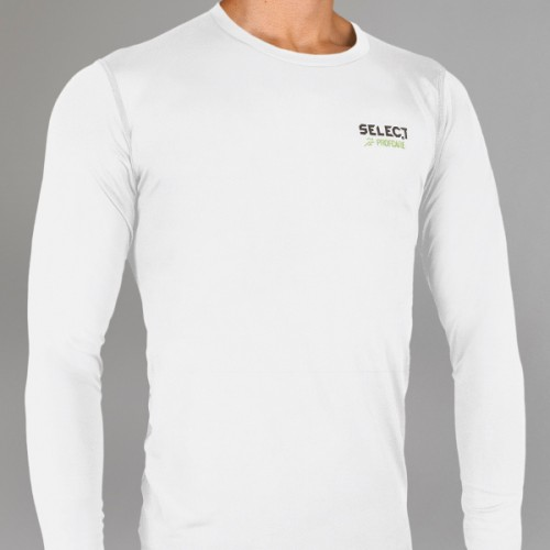 6901 Compression T-shirt with long sleeves - white-5954